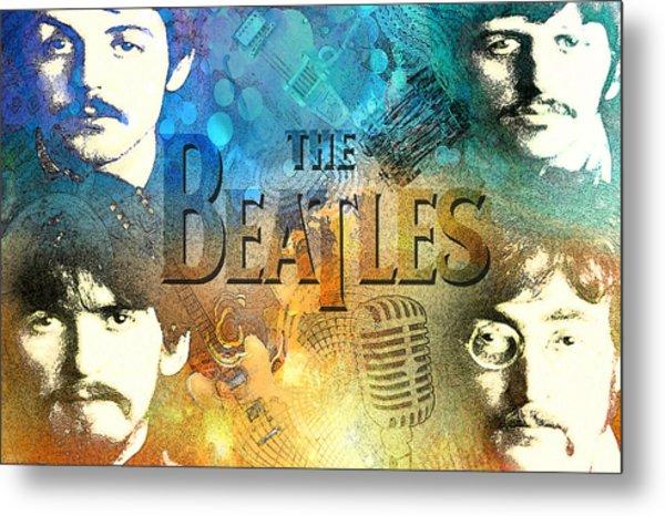 Beatle Montage Metal Print