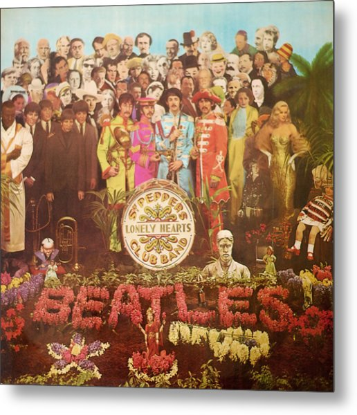 Beatles Lonely Hearts Club Band Metal Print