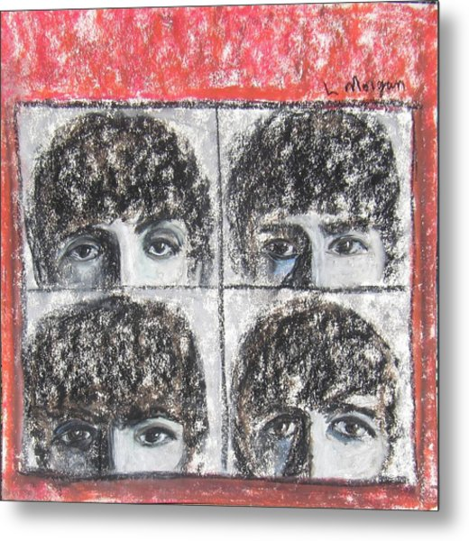 Beatles Hard Day's Night Metal Print