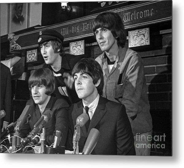 Beatles In Chicago Metal Print