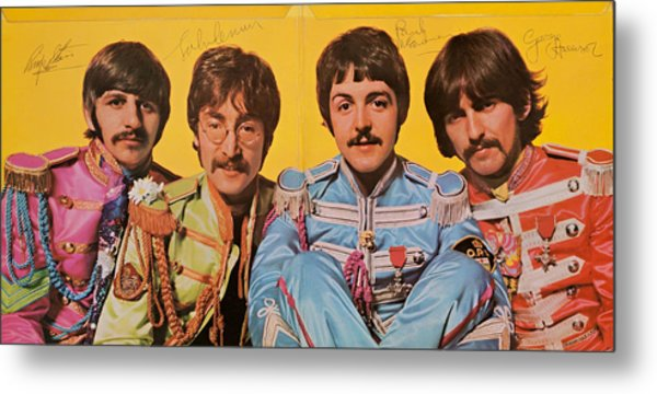 Beatles Sgt. Peppers Lonely Hearts Club Band Metal Print