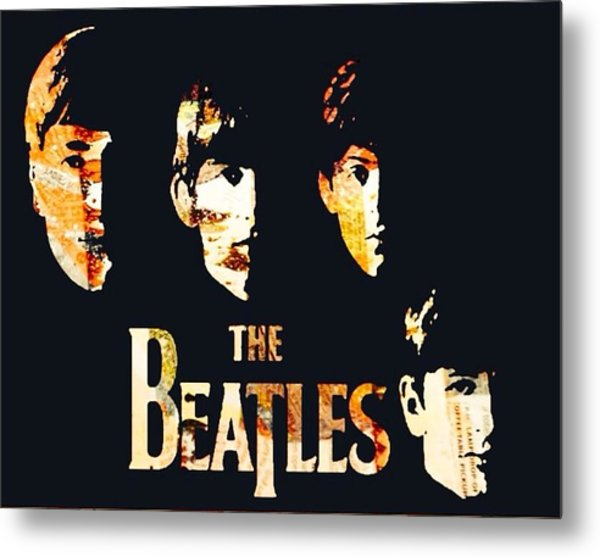 Beatles Metal Print by Trisha Buchanan