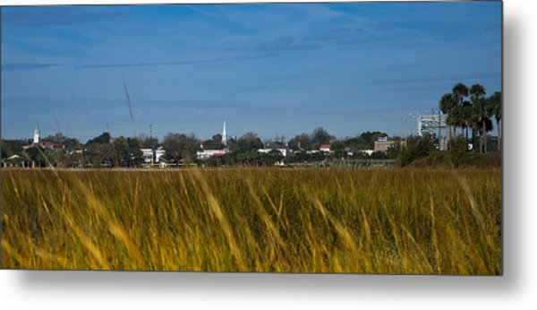Beaufort Sc Waterfront Metal Print