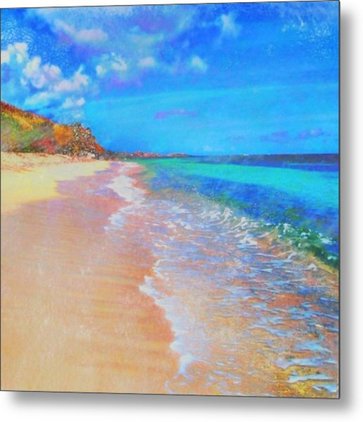 Beauregard Beach - Square Metal Print