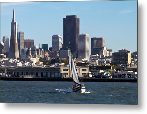 Beautiful Bay Beautiful Day Metal Print by Bernard  Barcos