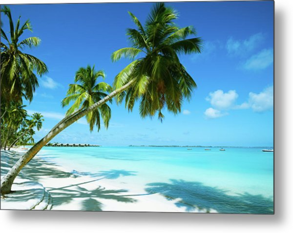 Beautiful Beach Resort Metal Print by Phototalk
