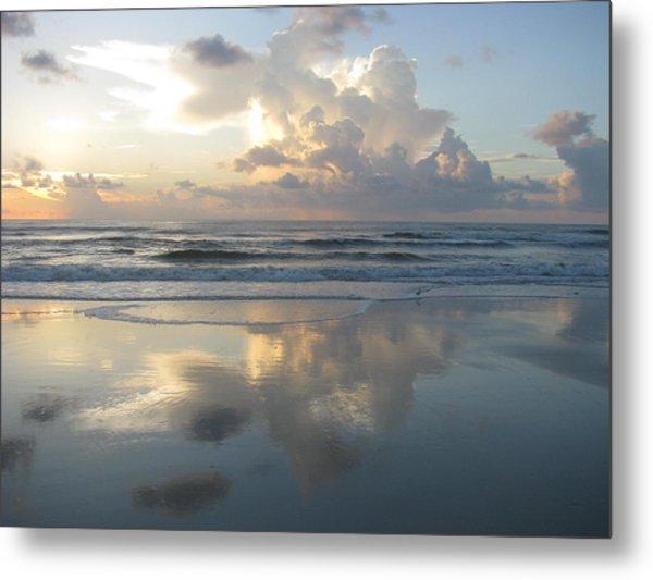 Beautiful Beach Sunrise Metal Print