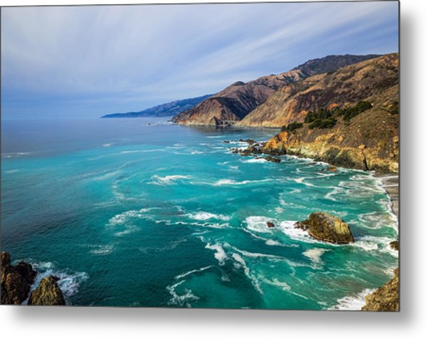 Metal Print featuring the photograph Beautiful Big Sur With Bixby Bridge by Priya Ghose
