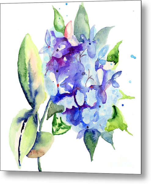 Beautiful Blue Flowers Metal Print