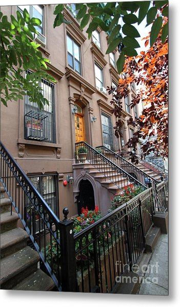 Beautiful Brownstone Home Metal Print