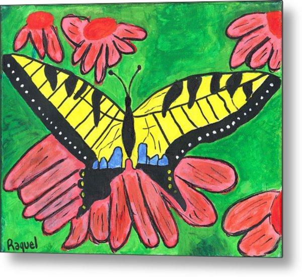 Tiger Swallowtail Butterfly Metal Print by Raqul Chaupiz