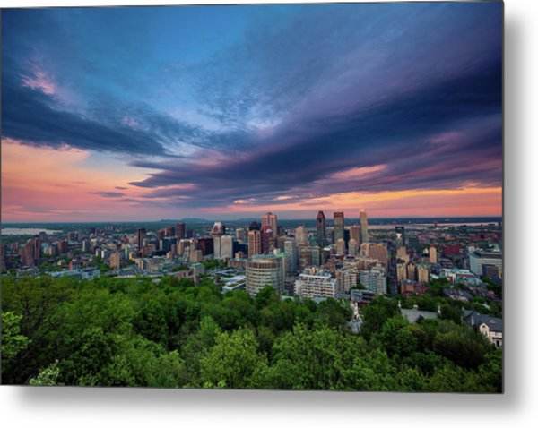 Beautiful Cloud Over The Montreal City Metal Print by D3sign