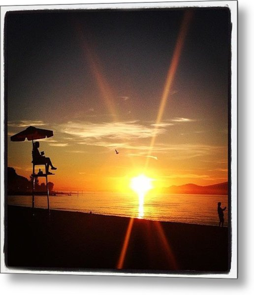 Beautiful End To A Beautiful Day Metal Print