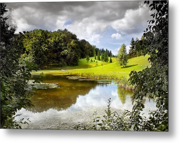 Beautiful Garden Summer Landscape Metal Print