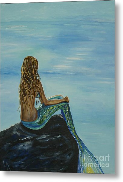 Beautiful Magic Mermaid Metal Print