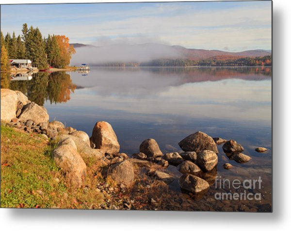 Beautiful Morning On Island Pond Metal Print