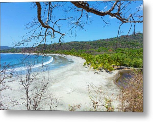 Beautiful Palm Fringed White Sand Playa Metal Print