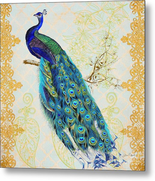 Beautiful Peacock-b Metal Print
