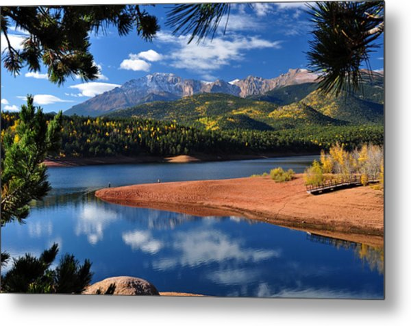 Beautiful Pikes Peak At Crystal  Metal Print