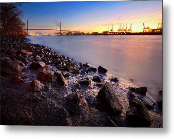 Metal Print featuring the photograph Beautiful Port Of Hamburg by Marc Huebner