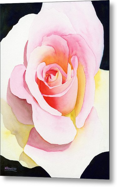 Metal Print featuring the painting Beautiful Rose by Ken Powers