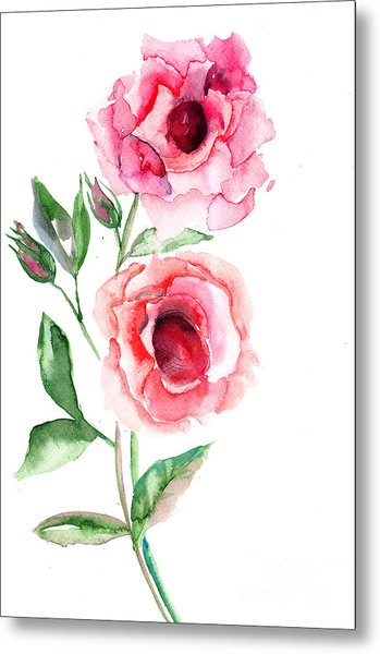Beautiful Roses Flowers Metal Print