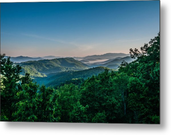 Beautiful Scenery From Crowders Mountain In North Carolina Metal Print