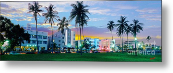 Beautiful South Beach Metal Print