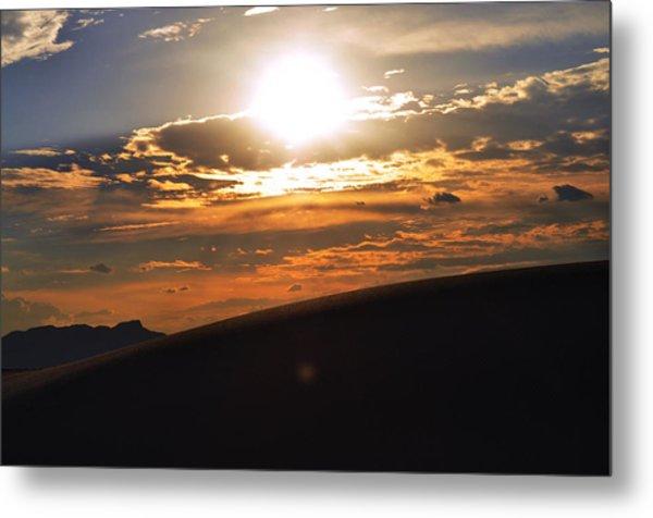 Beautiful Sun Set Metal Print by Danyele Skeels