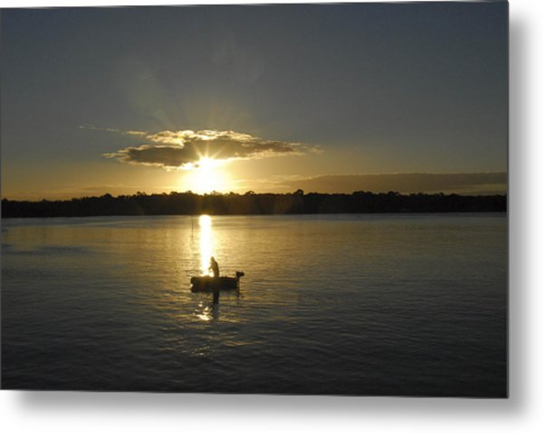 Beautiful Sunset Metal Print by David Yack