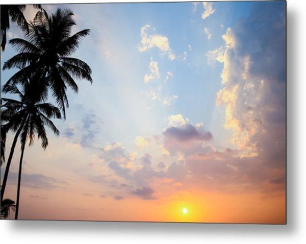 Beautiful Tropical Sunset Metal Print