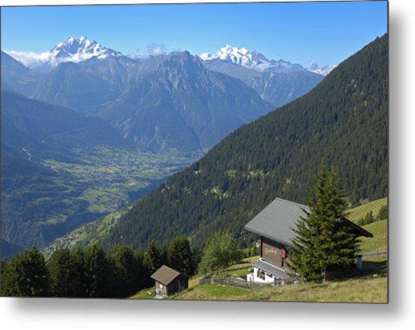 Beautiful View From Riederalp - Swiss Alps Metal Print