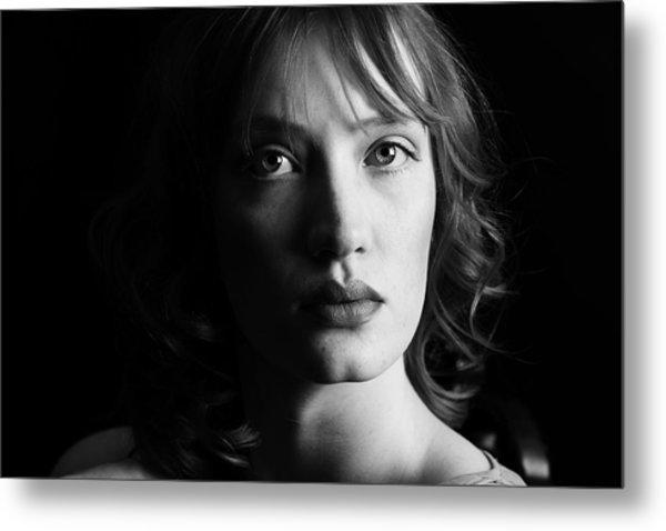 Beautiful Woman Metal Print by Lesley Rigg
