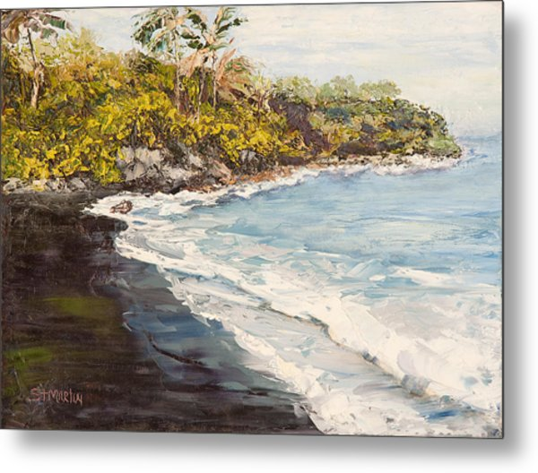 Beauty And The Beach Metal Print by Annie St Martin