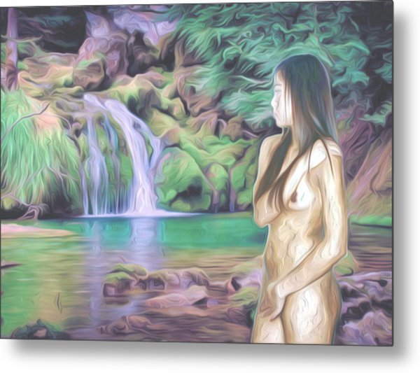 Beauty By The Falls Metal Print