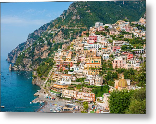 Beauty Of The Positano Metal Print