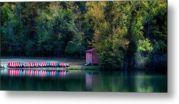 Beavers Bend Reflection Metal Print
