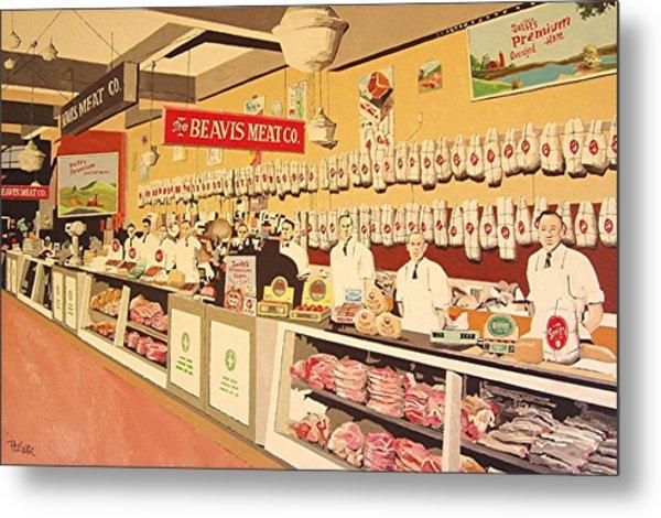 Beavis Meat In The Public Market Metal Print by Paul Guyer