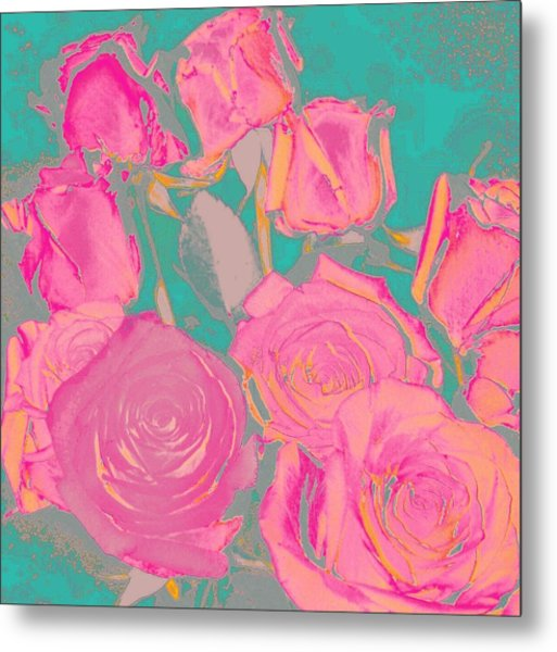 Bed Of Roses I Metal Print