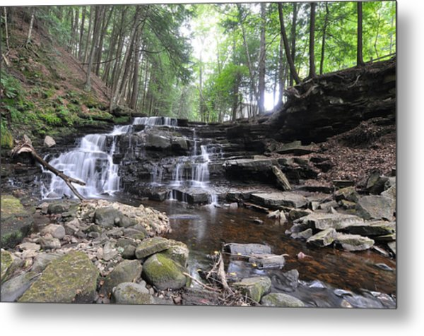 Beecher Creek Falls Edinburg Ny Metal Print