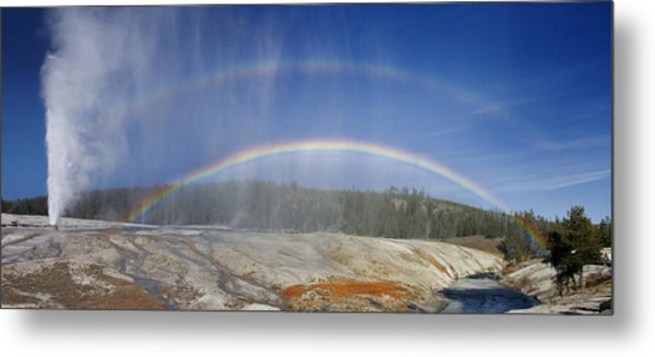 Beehive's Double  Rainbow Metal Print