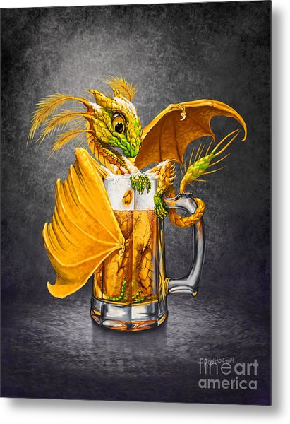 Beer Dragon Metal Print