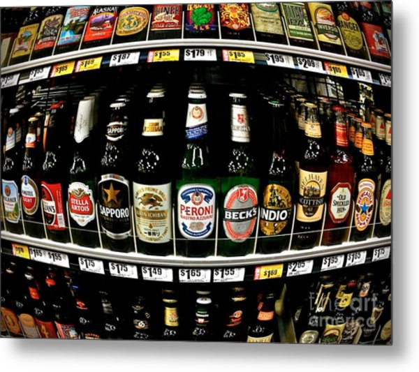 Beer Of Choice II - No.9188 Metal Print