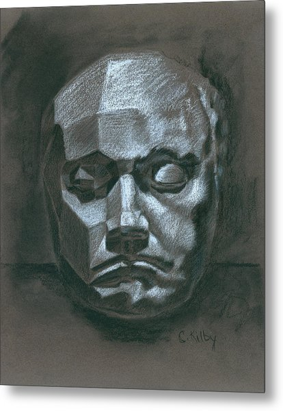 Beethoven Death Mask Metal Print by Claudia Kilby