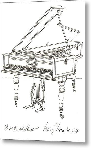Beethoven's Broadwood Grand  Piano Metal Print