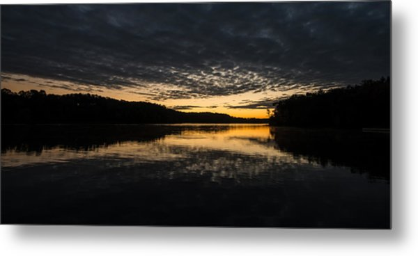 Before Sunrise At The Lake Metal Print