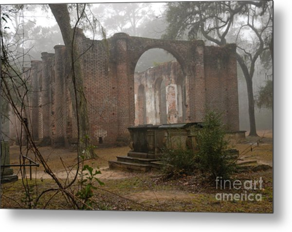 Behind Old Sheldon Church Metal Print