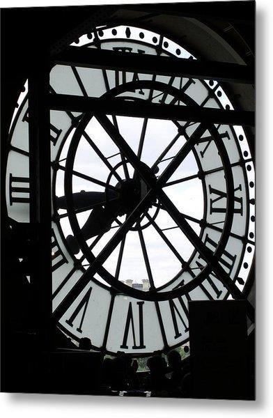 Behind The Clock II Metal Print