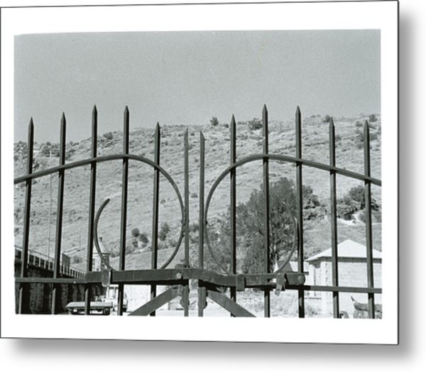 Behind The Gate Metal Print