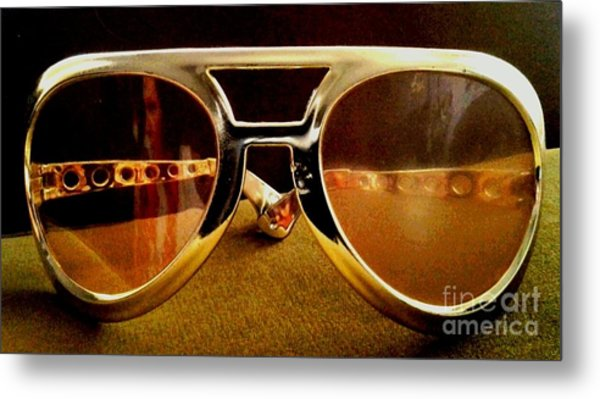 Behind The Glasses Metal Print by Dean Edwards